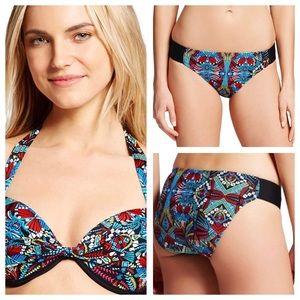 Mossimo Supply Co. geometric push-up bikini